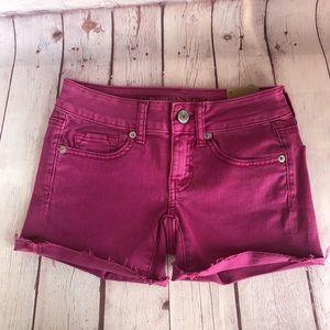 [American Eagle] NEW raspberry pink cutoff shorts